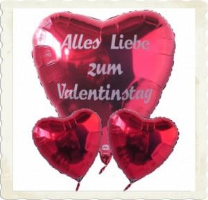 alles lieb zum valentinstag schwebende herzluftballons