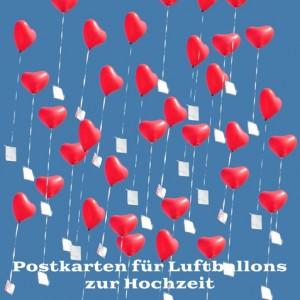 Postkarten für Luftballons zur Hochzeit