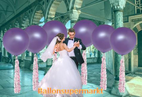 Grosse-Ballons-zur-Hochzeit-Foto-mit-tanzendem-Hochzeitspaar